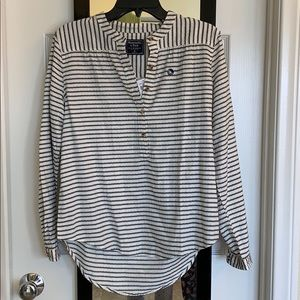 Abercrombie striped henley